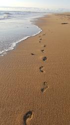 my footprints at the beach