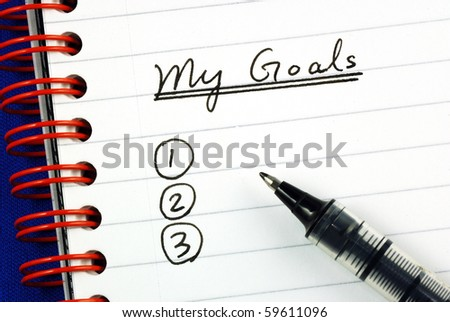 My goals list concepts of target and objective - stock photo