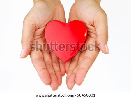 My heart on the palm - love symbol