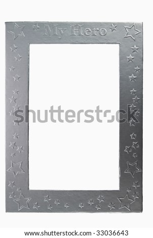 My Hero metallic photo frame - isolated on white background - stock photo