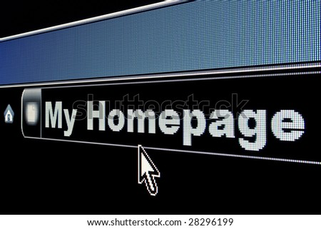 My Homepage concept on an internet browser URL address