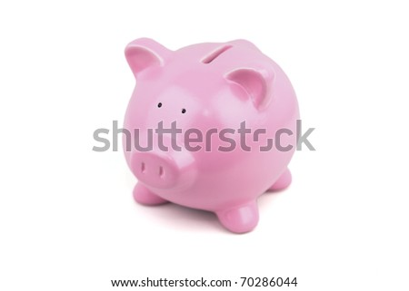 My Little pink piggy bank.