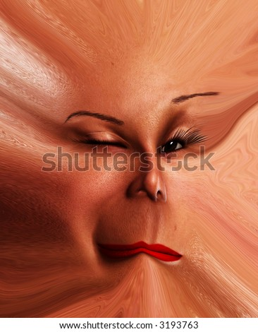 My vision of a distorted and abstract female face it could be used for Halloween or nightmare concepts.