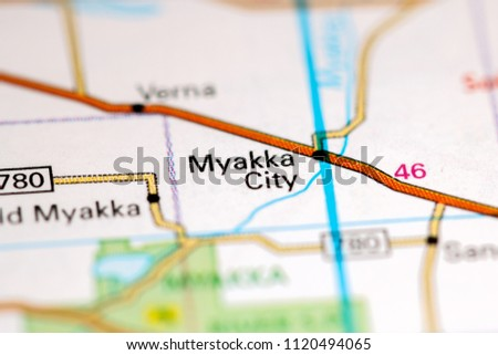 Myakka City Florida Map.Shutterstock Puzzlepix