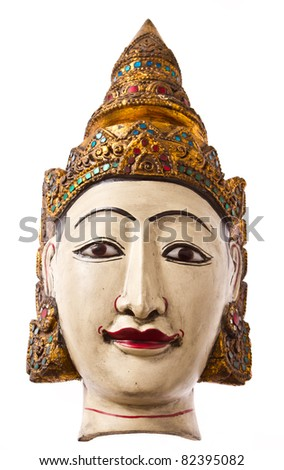 myanmar mask for home decoration