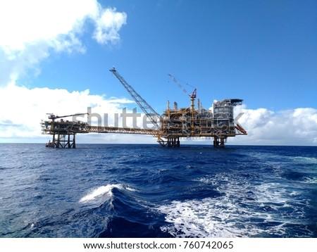 Myanmar Offshore Central Platform & well head platform . #760742065