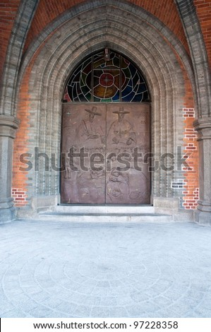 Myeong-dong Catherdral's Door,  Seoul, Korea