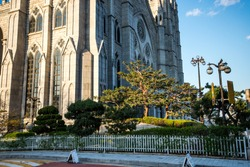Myeongdong Catholic Cathedral in Myeongdong, Seoul, South Korea