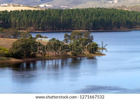 Myponga Reservoir, South Australia, Australia.The Myponga Reservoir is a reservoir in South Australia, located about 60 km south of Adelaide near the town of Myponga.