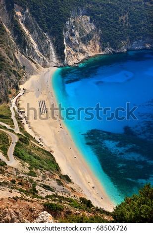 Myrtos beach in Kefalonia island