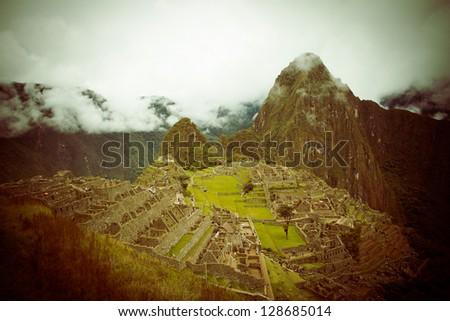 Mysterious city - Machu Picchu, Peru color processed