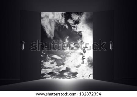 Mysterious Door Heaven Clouds