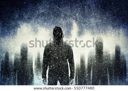Mysterious gangster in the dark