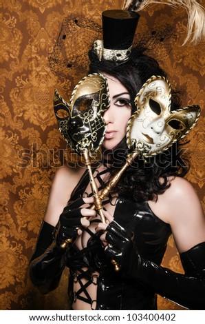 Mysterious Masquerade - Sexy Vixen with Venetian Masks