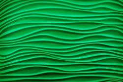 Mysterious modern fancy template aqua bend shape plain with soft shadow. Beautiful vibrant dense irish mint malachite paint color artsy gesso emboss build parget fond. View closeup with space for text