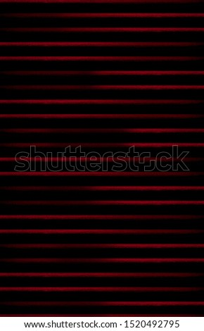 mysterious striped red metal bars in black background