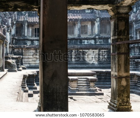 Stock Photo Mysterious temple altar