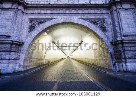 Mysterious tunnel - Traforo Umberto in Rome
