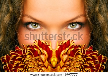 mysterious woman eyes