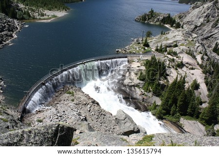 Mystic Lake Dam is a two-unit hydroelectric plant on the west Rosebud Creek in the Beartoooth mountains about 75 miles southwest of Billings, Montana, USA.