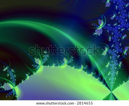 Mystic planet, image fractal - stock photo