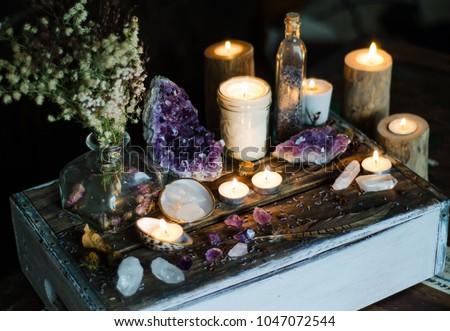 Mystical Altar Amethyst Candles