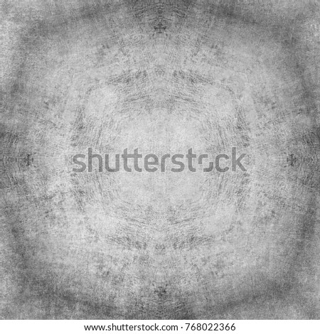 Mystical symbol, beautiful abstract decoration. Black and white color combination
