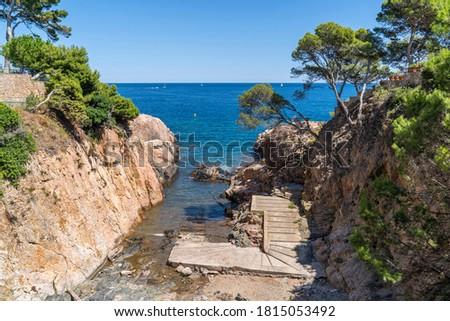 N´Estasia cove in Begur beach with nobody, Girona, Catalonia, Spain. Foto stock ©