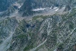 Néouvielle peak in Néouvielle Nature Reserve in Vallée d'Aure valley of L'Occitanie region of Hautes-Pyrénées in France, Europe
