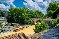 Nérac pretty little village of Lot et Garonne in Occitanie, France.