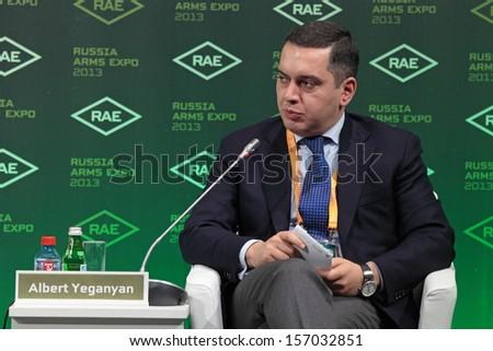 N.TAGIL, RUSSIA - SEP 25: Albert Yeganyan - member of the General Council of the organization \