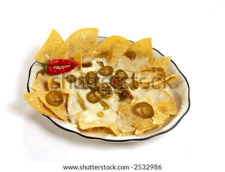 Nacho Chips and Jalapeno Peppers