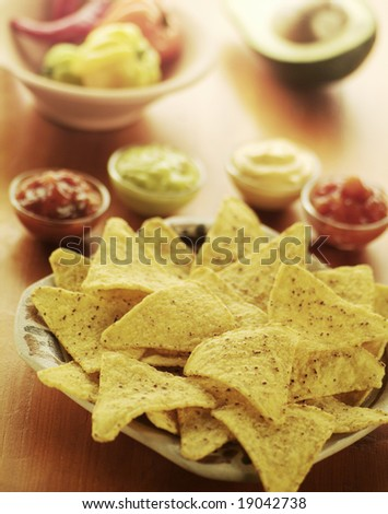 Nachos with dips
