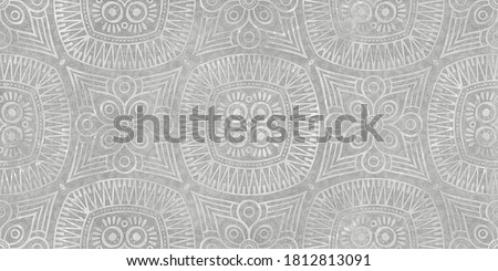 Nacre damask with cement texture seamless pattern , ornament decor design Foto stock ©