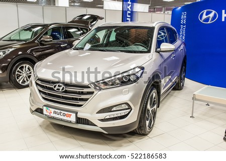 Nadarzyn, Poland, November 20, 2016, Warsaw Moto Show: HyundaiTucson
