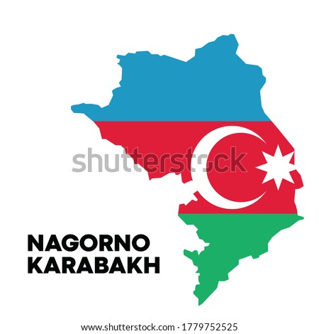 Nagorno Karabakh Azerbaijan Map width Azerbaijan Flag