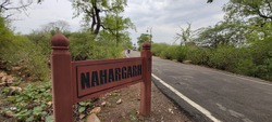Nahargarh fort sign board on road