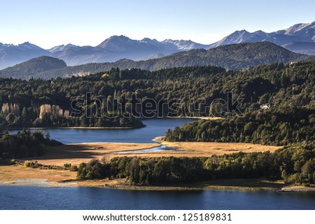 Nahuel Huapi lake, Patagonia Argentina, from Panoramic Point near Bariloche