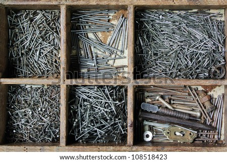 Nail and Artist hand tools for wood handicraft