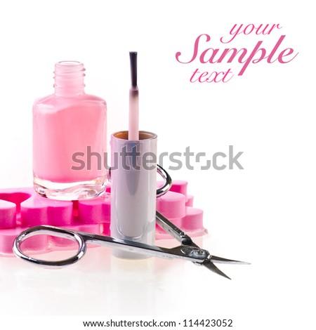 Nail polish and scissors