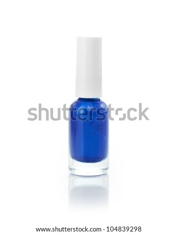 nail polish isolated on a white background