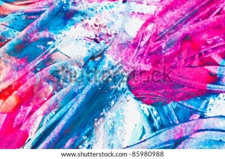 Nail Polish Splashes. art set