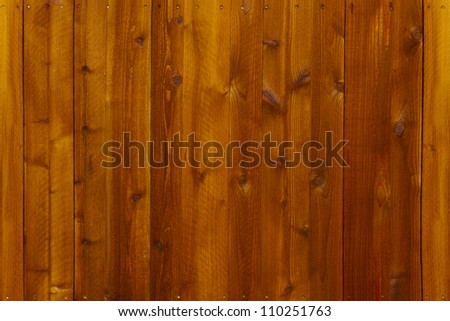 Nails in wooden seamless continuous fence