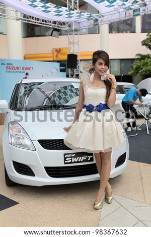 NAKHONRATCHASIMA,THAILAND-MARCH,24: Susuki New Swift on display at the Northeast Motor Show during 24-31 March 2012,March 24,2012 at the Mall department store in Nakhonratchasima,Thailand.