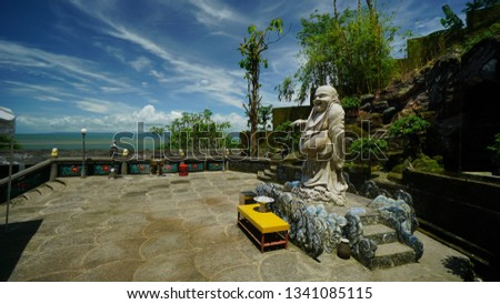 Nam Hai Kwan Se  Im Pu Sa monastery  is a place of worship for Thai Buddhism, which is about eight kilometers from downtown Sukabumi. This monastery is located in Kertajaya Village, Simpenan District, Stok fotoğraf ©