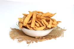 Namak Para an Indian snack which is cripsy and flaky