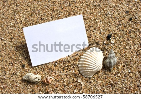 Name card on sand