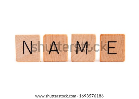 NAME word made of wooden letters  ストックフォト ©