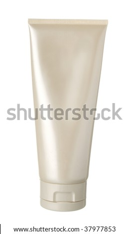 nameless white pearl plastic bottle for beauty product on white background