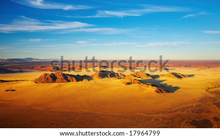 Namib Desert, dunes of Sossusvlei, bird's-eye view